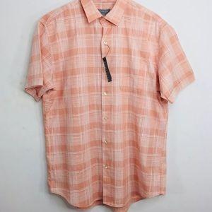 Van Heusen Button Down Collard Shirt Mute Clay XL